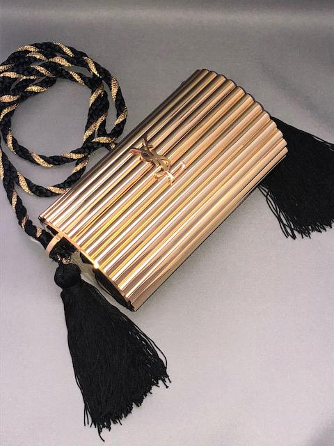Yves Saint-Laurent gilt metal shoulder bag