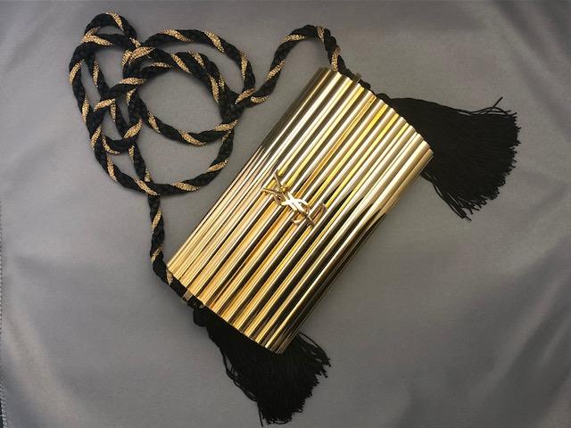 9e10cc98258 Yves Saint-Laurent Opium gilded metal shoulder bag - Stunning YSL