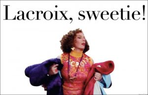 « Sweetie, darling, Lacroix »  Christian Lacroix on Absolutely Fabulous
