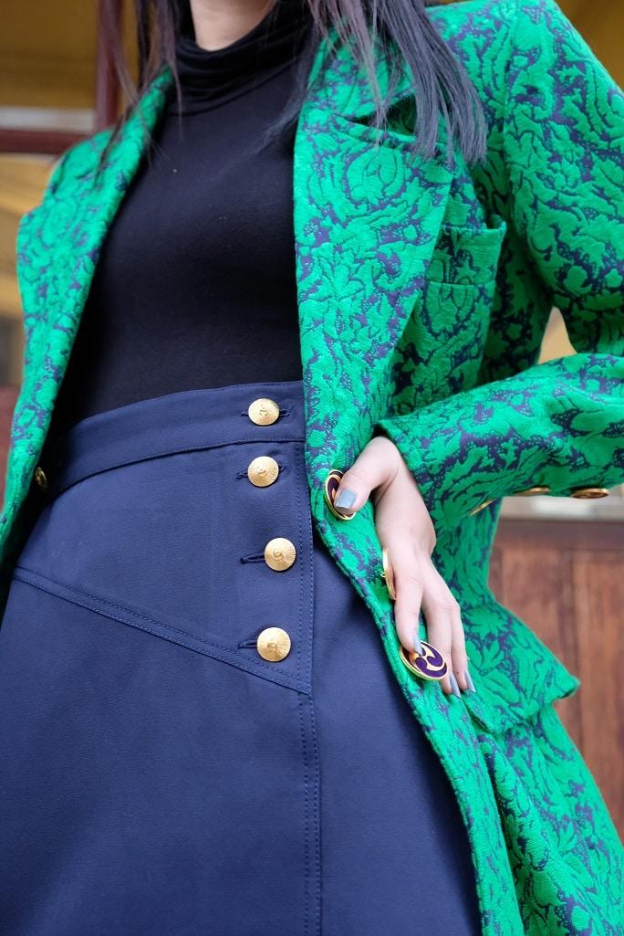 Chanel Navy Wool Skirt