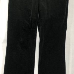 CHANEL Black Corduroy Cashmere-Elastane Trousers - Pants