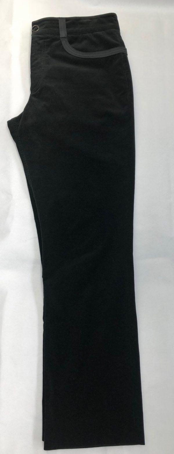 CHANEL Black Corduroy Cashmere-Elastane Trousers - Pants