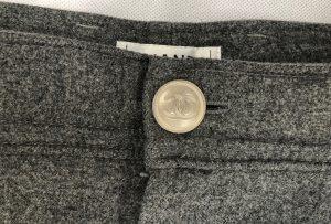 CHANEL Grey Wool Trousers - Pants