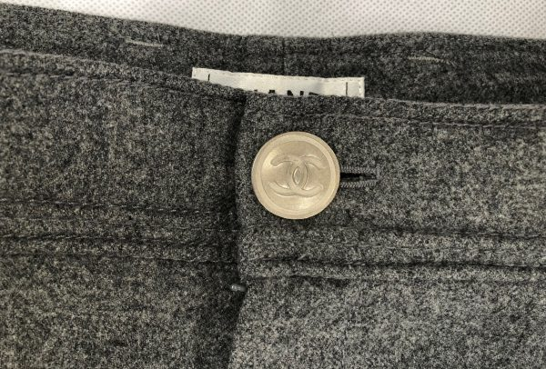 CHANEL Grey Wool Trousers - Pants