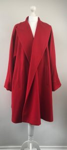 Louis Féraud Retro Chic Wool-Cashmere Flared Coat - Loose Sleeves
