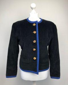 Yves Saint-Laurent rare black and blue velvet jacket Size 40