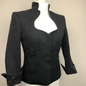Yves Saint-Laurent black fitted jacket Size 40