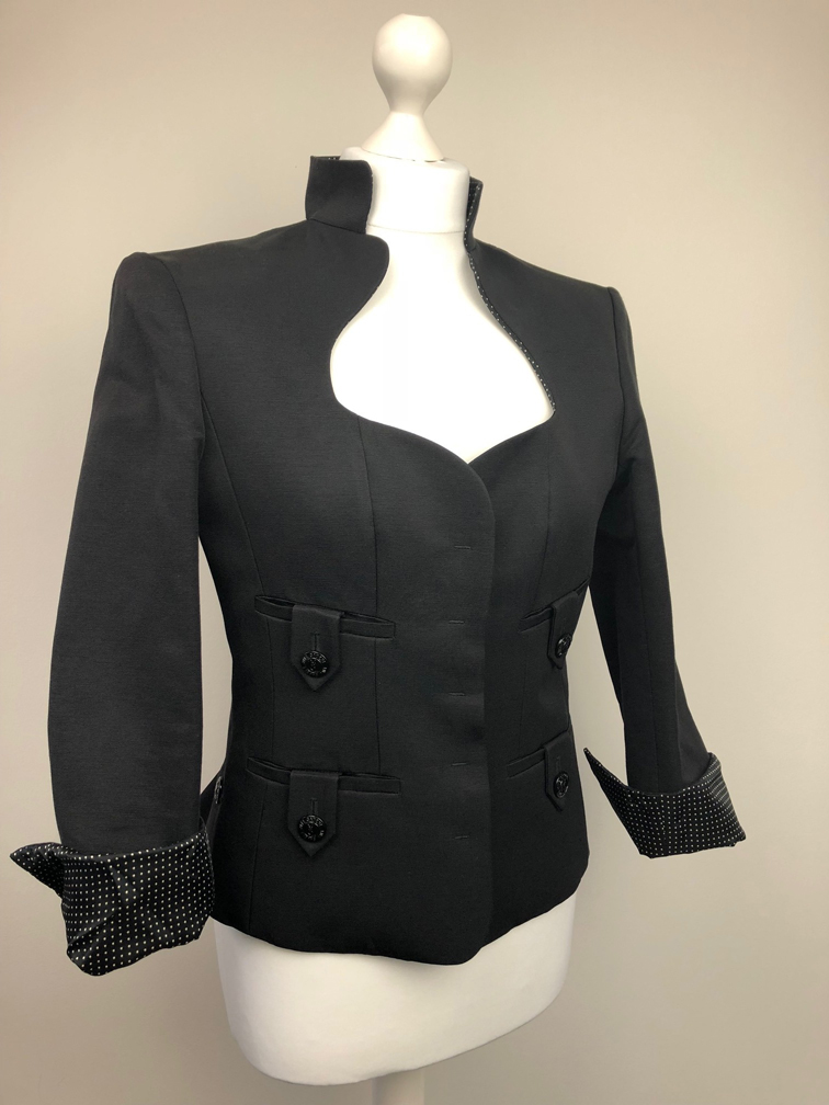 3be9ce6c3ab YSL Yves Saint-Laurent black fitted jacket
