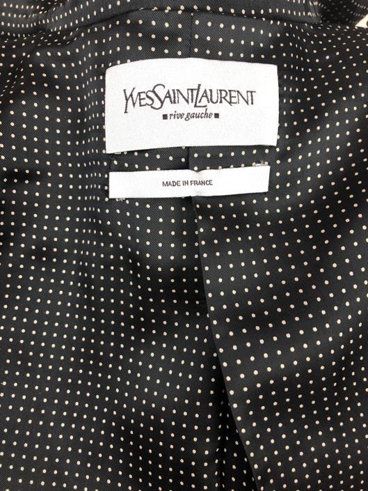 cd8e9c6dc48 YSL Yves Saint-Laurent black fitted jacket