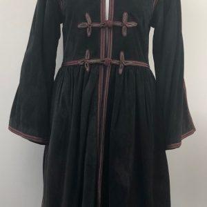 1976 Yves-Saint Laurent Cossack Black/Dark Grey Suede Coat – Russian Ballet
