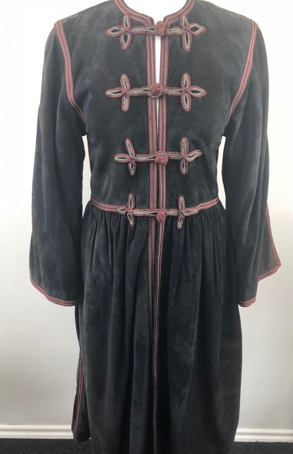 1976 Yves-Saint Laurent Cossack Black/Dark Grey Suede Coat – Russian Ballet