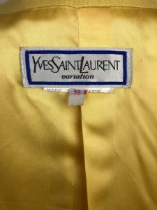 Yves Saint-Laurent rare yellow jacket Size 38