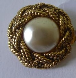 CHANEL Vintage Clip-on Filigree Gold & Pearls Earrings