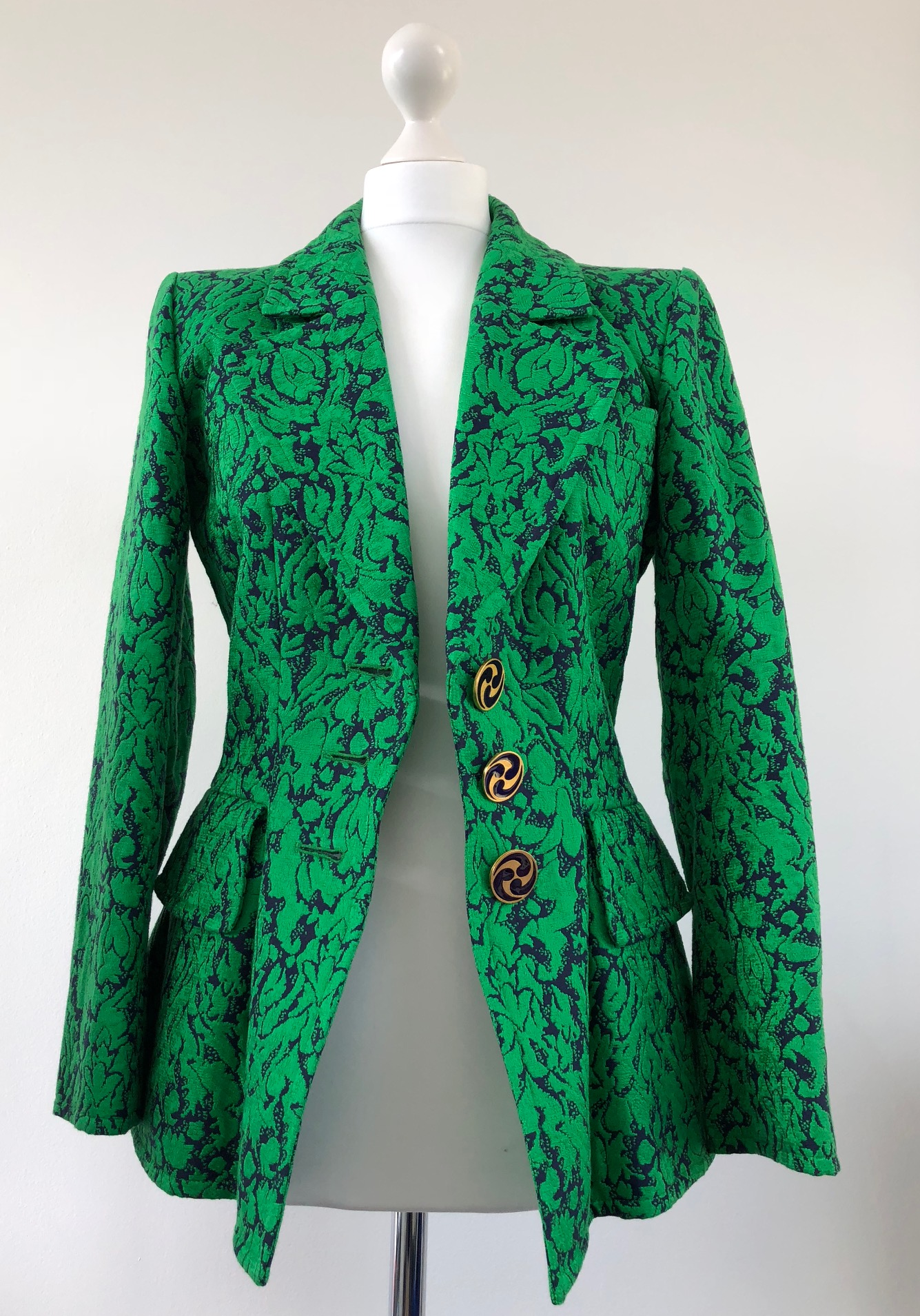 Ysl Brocade Cashmere Print Fitted Jacket 1992 1993 Collection