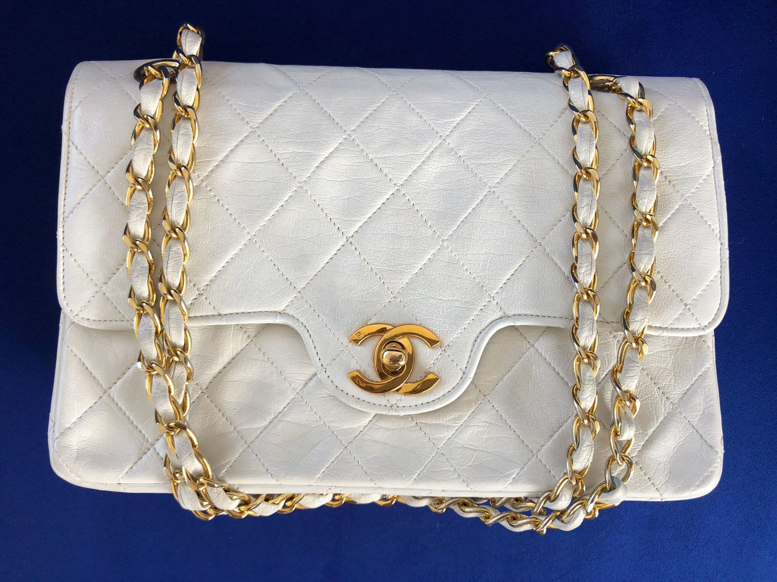 Chanel Timeless Leather Double Flap Bag