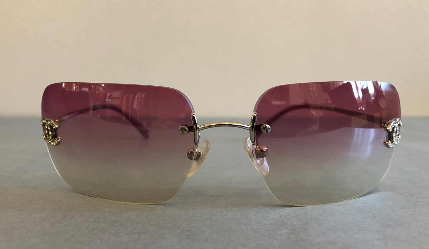 71576336256 CHANEL Sunglasses CC Aviators Rimless - Chelsea Vintage Couture