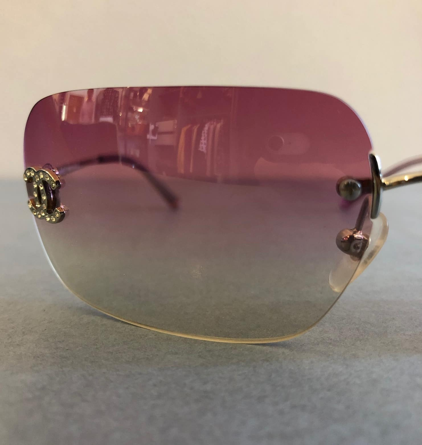 e7200832ae CHANEL Sunglasses CC Aviators Rimless - Chelsea Vintage Couture