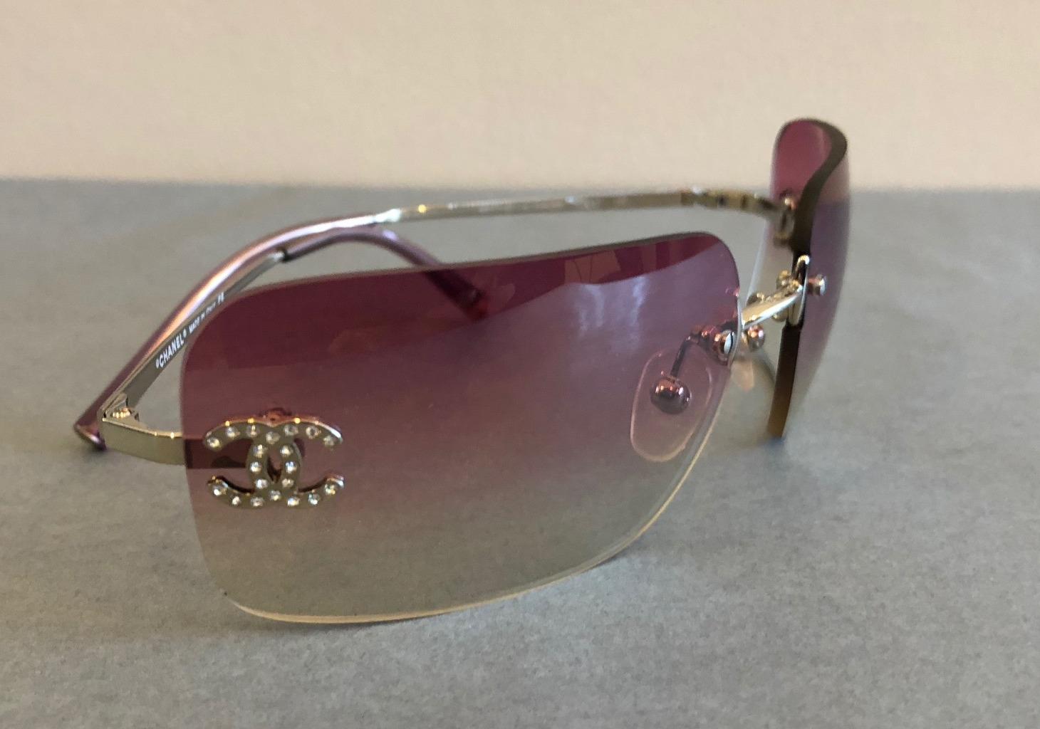 3d488b814fdcb CHANEL Sunglasses CC Aviators Rimless - Chelsea Vintage Couture