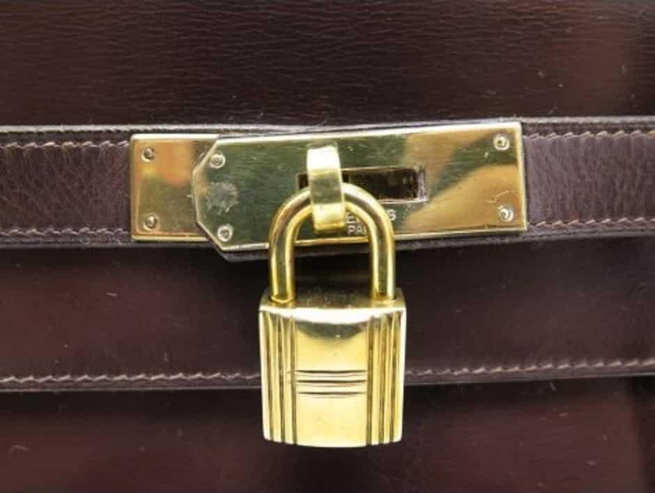 Hermes Kelly Handbag Brown Box Calf with Gold Hardware 32 - Chelsea ...
