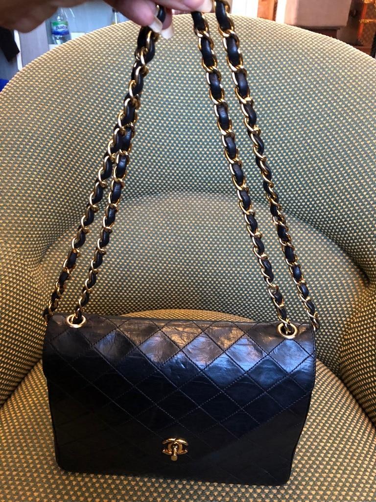 2b85323cbbab CHANEL Timeless V-Stitch Double Chain Shoulder Bag VERY RARE ...