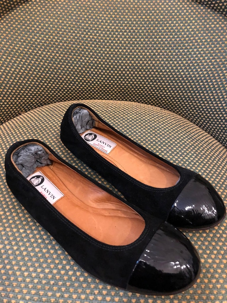 LANVIN Classic BLACK Patent Leather