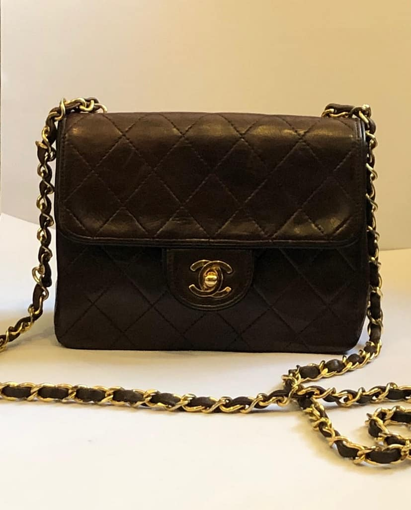 94ad8d5651b6c7 CHANEL Vintage Mini Flap Chain Bag RARE - Chelsea Vintage Couture