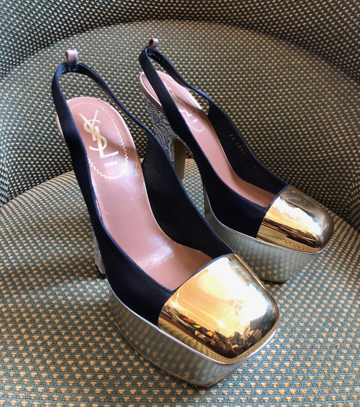 bad4517ce3ca Yves Saint-Laurent Paige 16 cm Leather-Satin plateau sandals ...