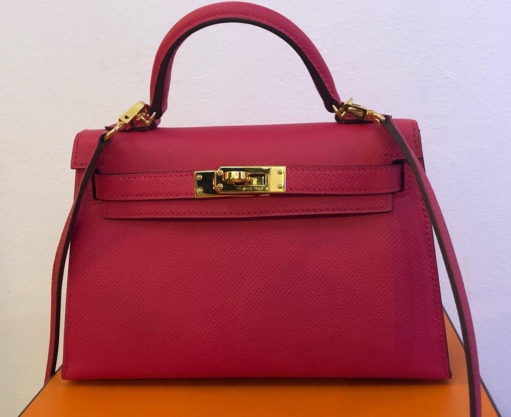 Hermès Kelly II 20 cm Mini Veau Epsom Rose Extreme GHW Bag