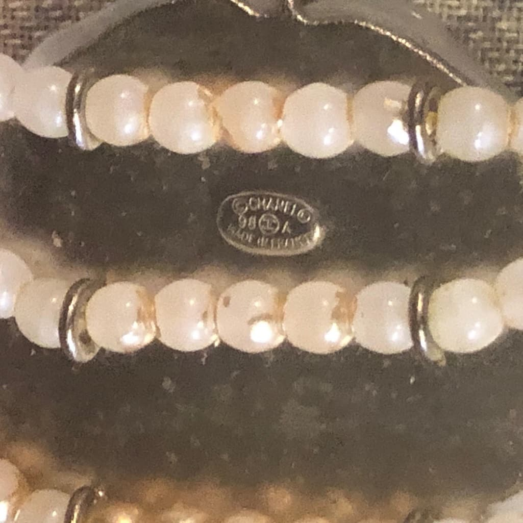 ba13766f1ad7e CHANEL Camellia Flower Mother of Pearl Triple Strand Necklace Vintage -  Chelsea Vintage Couture